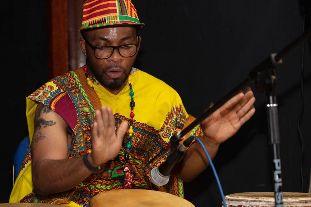Making music at CMG's black history event