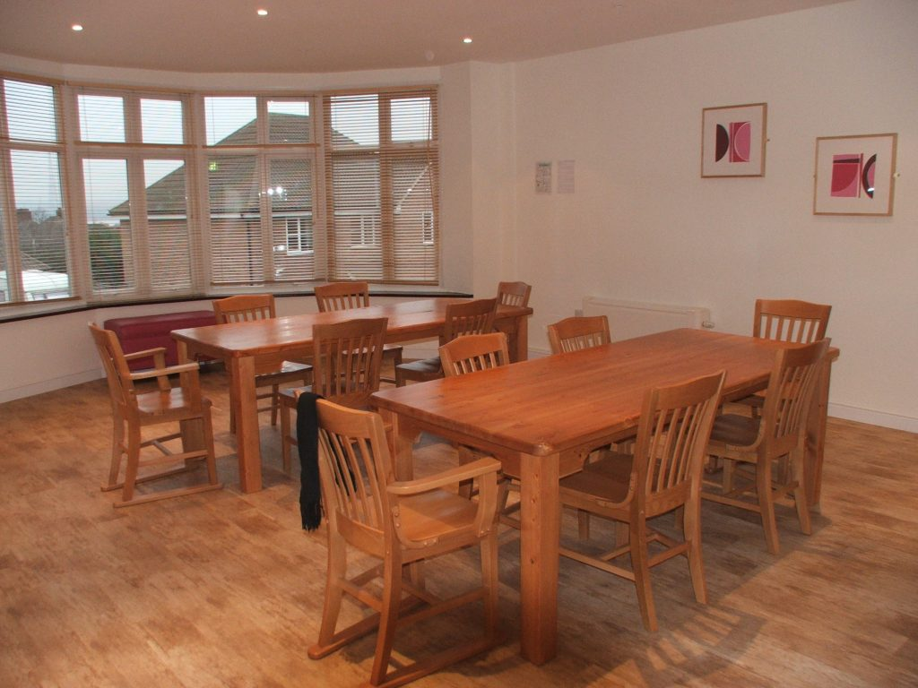 Dining area at meesons lodge care service