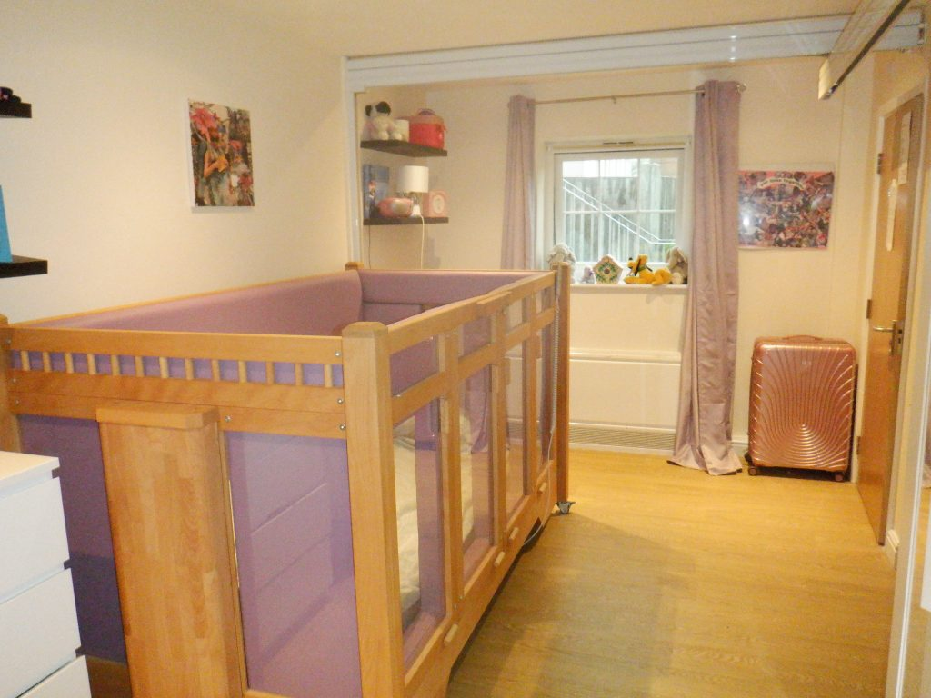 Adapted bedroom for resident at meesons lodge