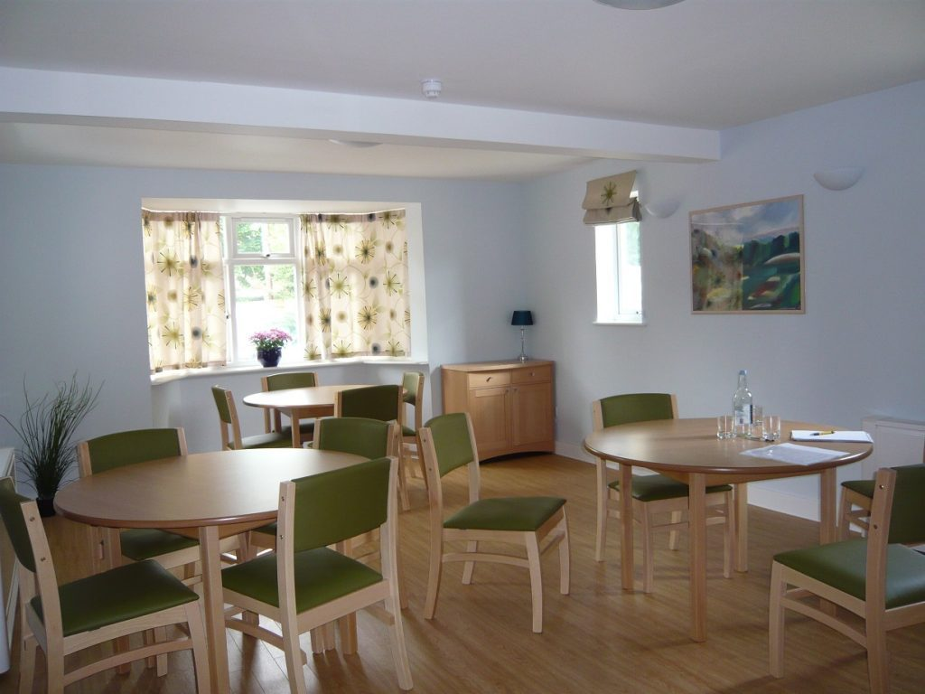 Common room at Whitehatch care home