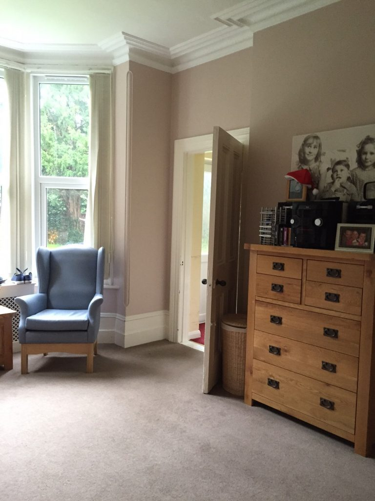 living room at Cornerleigh care home