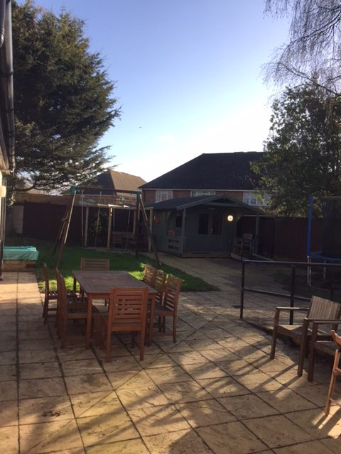 Outdoor space for residents at harwich house