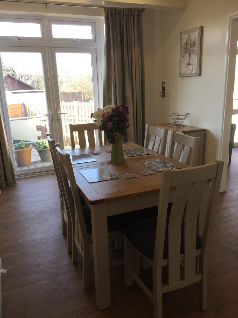 Dining room at Jubilee House service