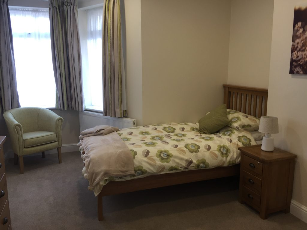 Jubilee House care home bedroom