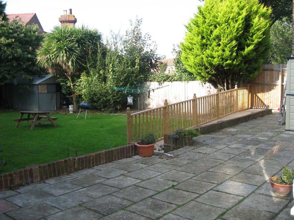 Garden for residents at St helier road care service