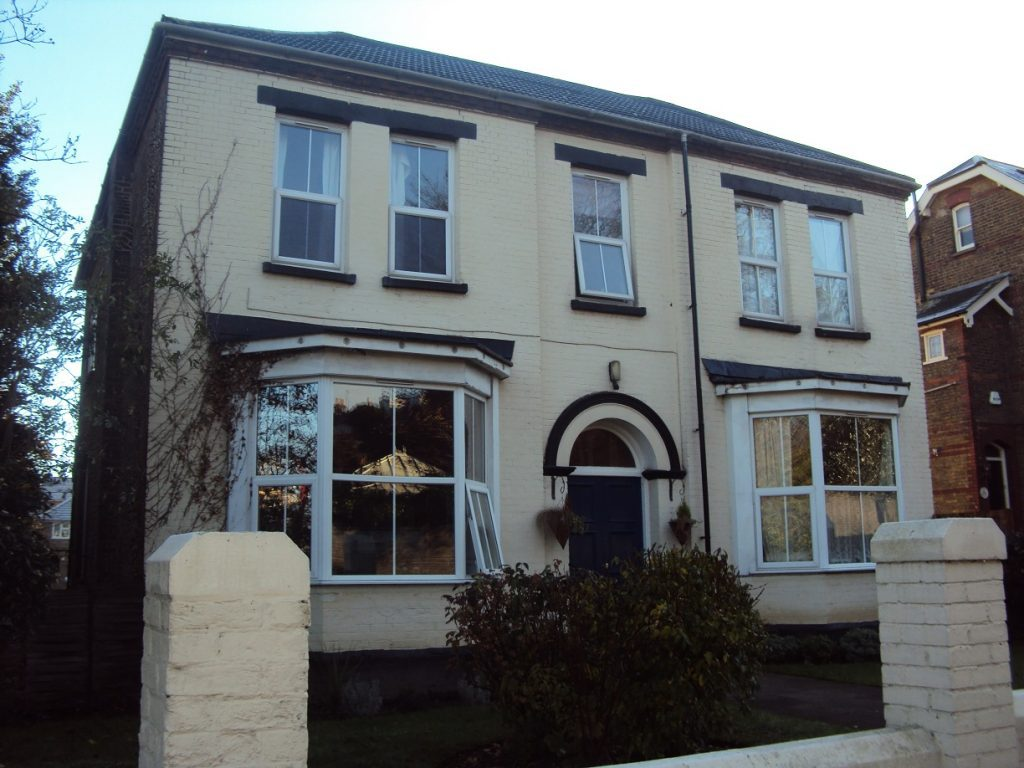 Front of Rochester house care home