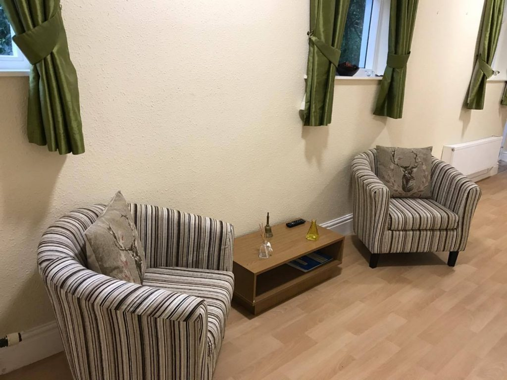 sitting area in garthowen care home