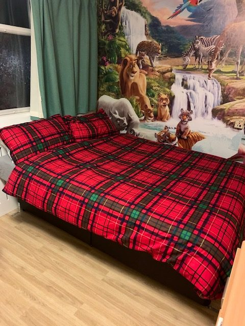 Large bed for resident at Smitham Downs Road care home