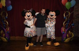 A person we support from the kings ripton care home at disney land
