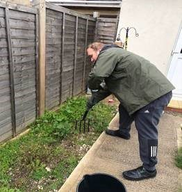 Gardening during lockdown at The Rugby Road Care Service