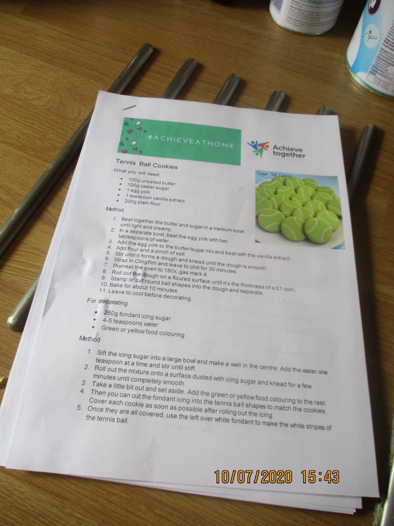 Recipe by achieve together for social care services