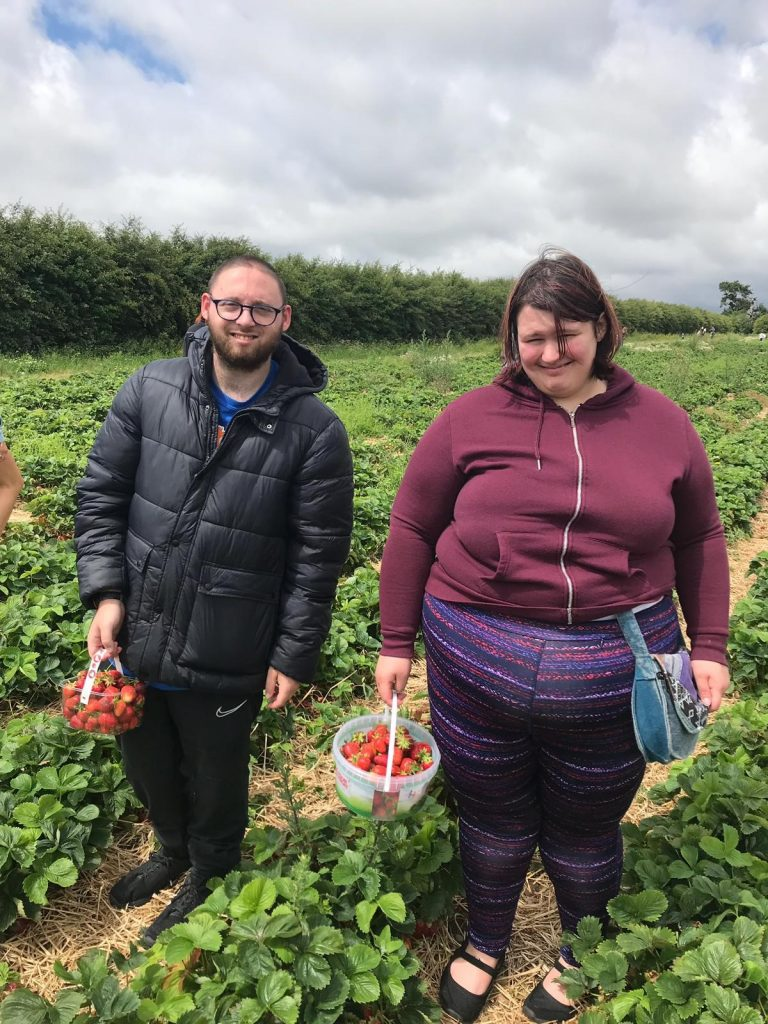 Strawberry picking for Wimbledon rewind
