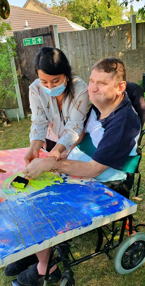 Meesons lodge social care service art