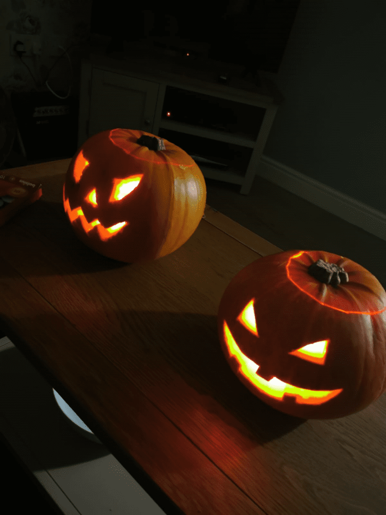 Pumpkin carving ideas at social care service