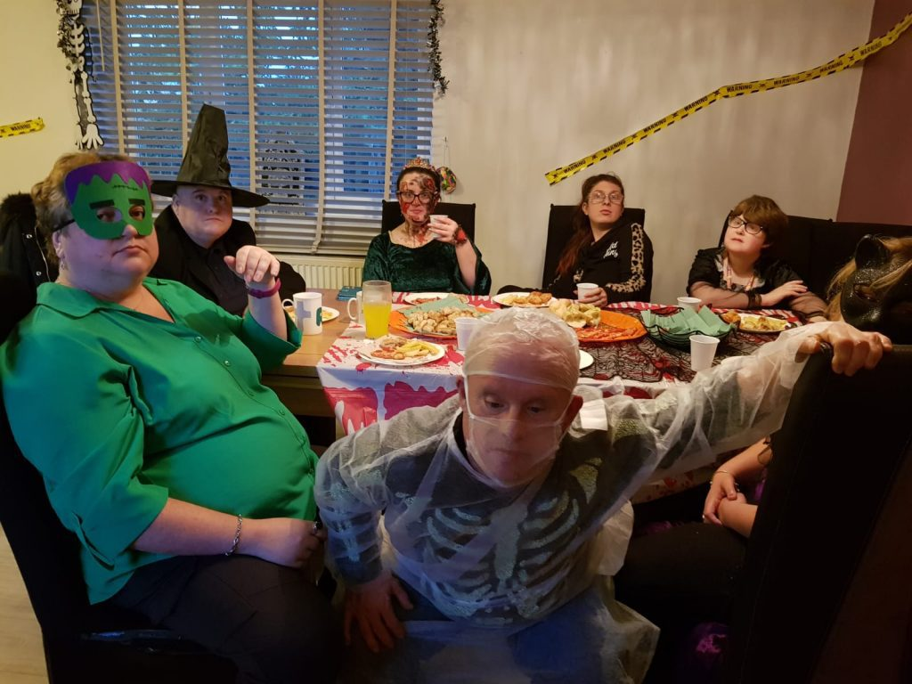 halloween dinner at bower mount road social care service