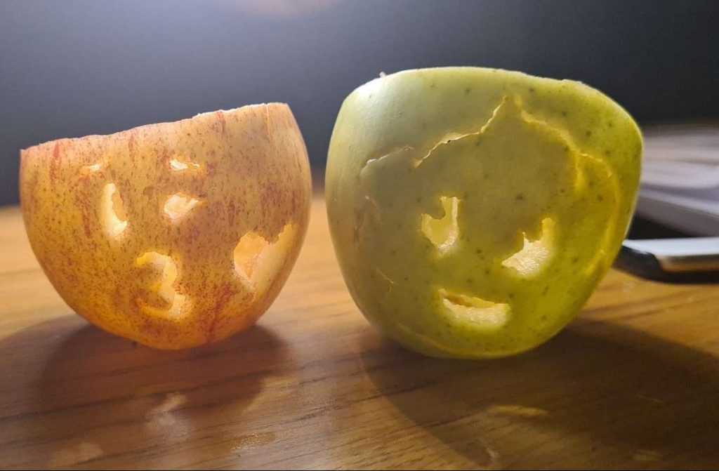 Bedwas Road social care service apple carving