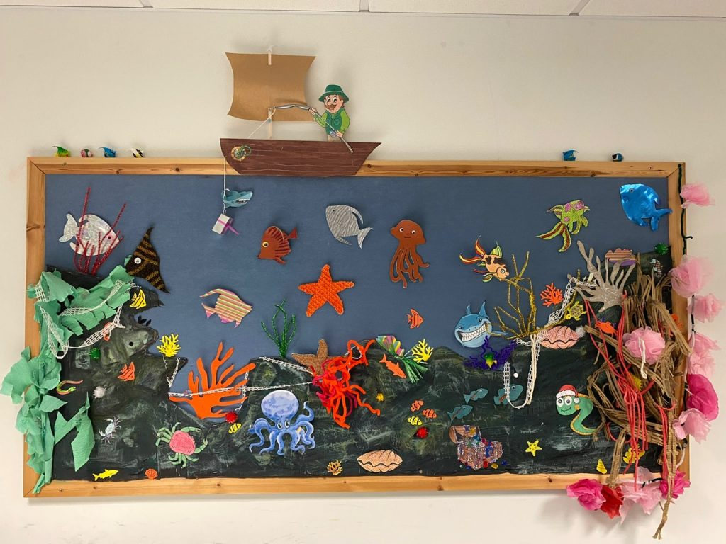 arts and crafts display at the hub uttoxeter