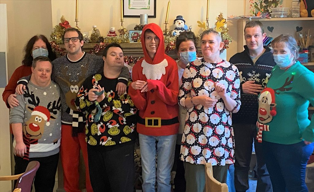 christmas jumper day for save the children at ivers house service
